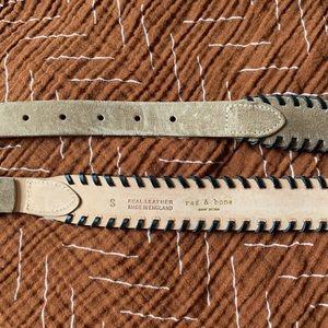 rag & bone Accessories - Rag & Bone Tan Suede whipstitch Belt